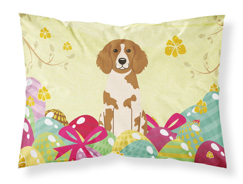 Buy this Easter Eggs Brittany Spaniel Fabric Standard Pillowcase BB6072PILLOWCASE