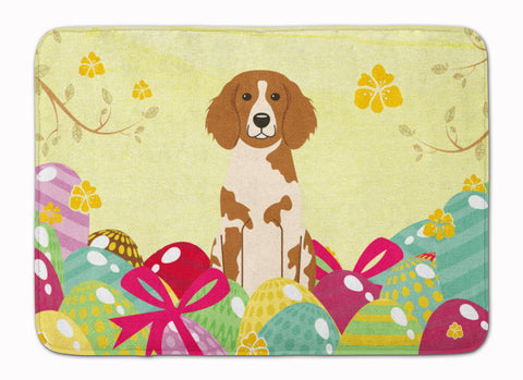 Buy this Easter Eggs Brittany Spaniel Machine Washable Memory Foam Mat BB6072RUG