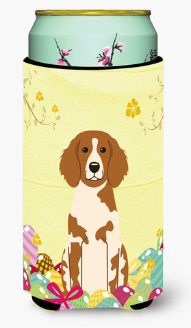 Buy this Easter Eggs Brittany Spaniel Tall Boy Beverage Insulator Hugger BB6072TBC