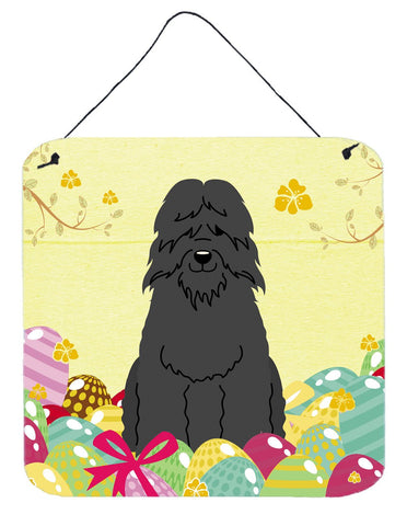 Buy this Easter Eggs Bouvier des Flandres Wall or Door Hanging Prints BB6074DS66