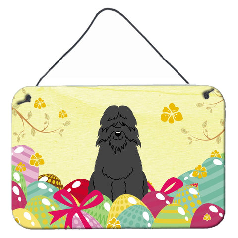 Buy this Easter Eggs Bouvier des Flandres Wall or Door Hanging Prints BB6074DS812