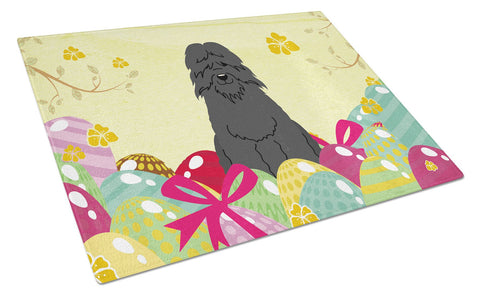 Buy this Easter Eggs Bouvier des Flandres Glass Cutting Board Large BB6074LCB