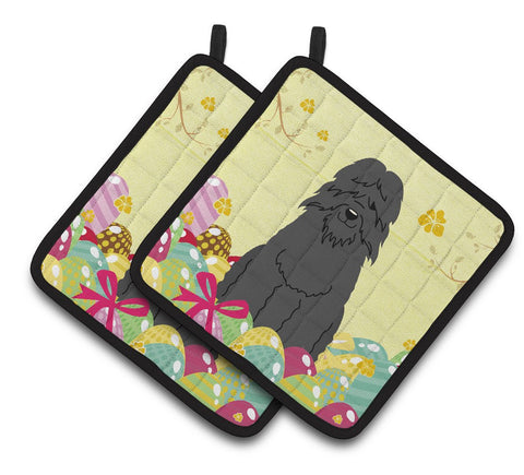 Buy this Easter Eggs Bouvier des Flandres Pair of Pot Holders BB6074PTHD