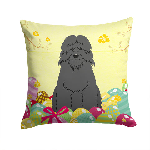 Buy this Easter Eggs Bouvier des Flandres Fabric Decorative Pillow BB6074PW1414