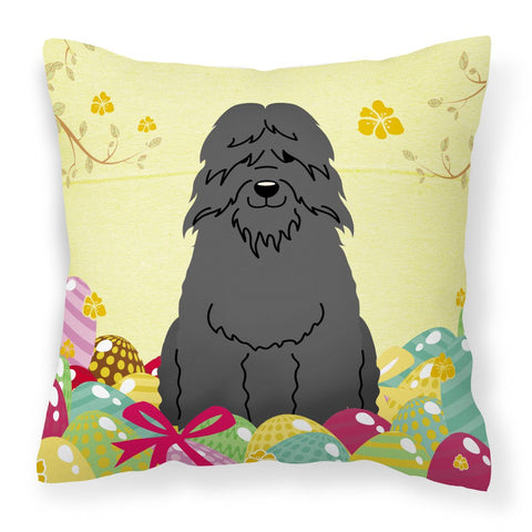 Buy this Easter Eggs Bouvier des Flandres Fabric Decorative Pillow BB6074PW1818