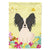 Buy this Easter Eggs Papillon Black White Flag Garden Size BB6076GF