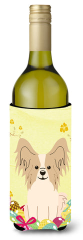Buy this Easter Eggs Papillon Sable White Wine Bottle Beverge Insulator Hugger BB6077LITERK