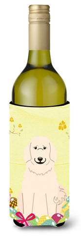 Buy this Easter Eggs Great Pyrenese Wine Bottle Beverge Insulator Hugger BB6083LITERK