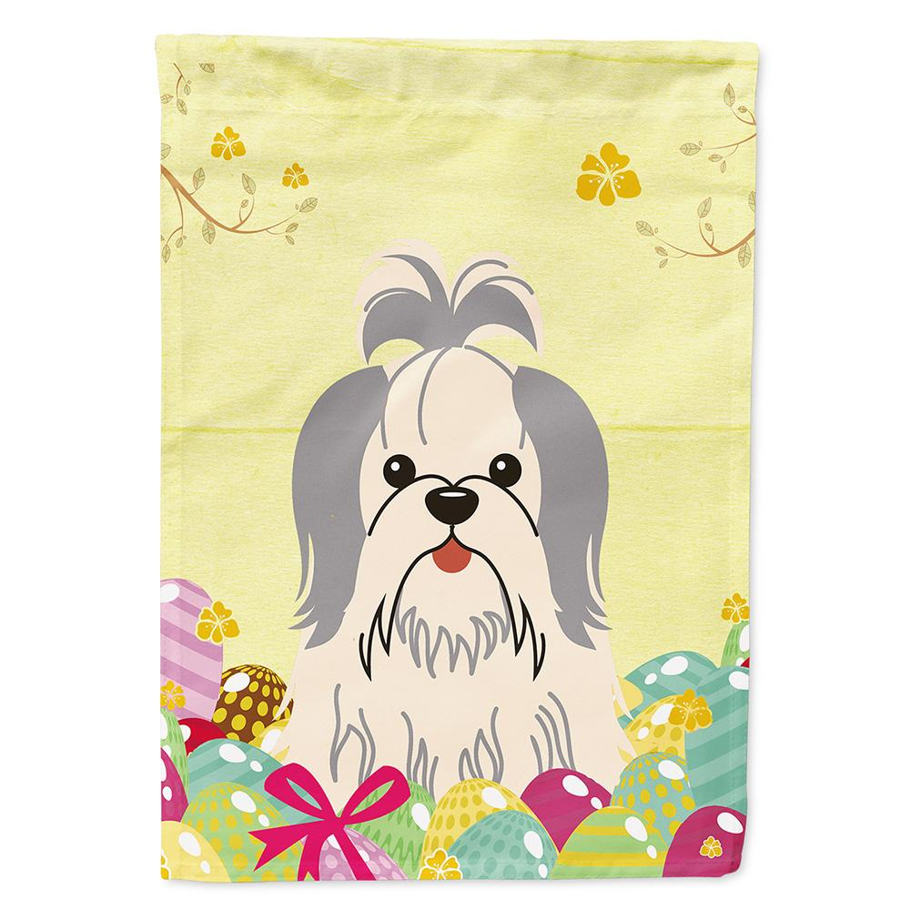 Buy this Easter Eggs Shih Tzu Silver White Flag Garden Size BB6085GF