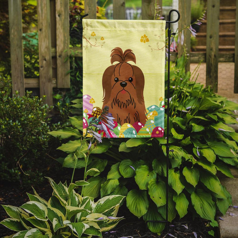 Buy this Easter Eggs Shih Tzu Silver Chocolate Flag Garden Size BB6086GF