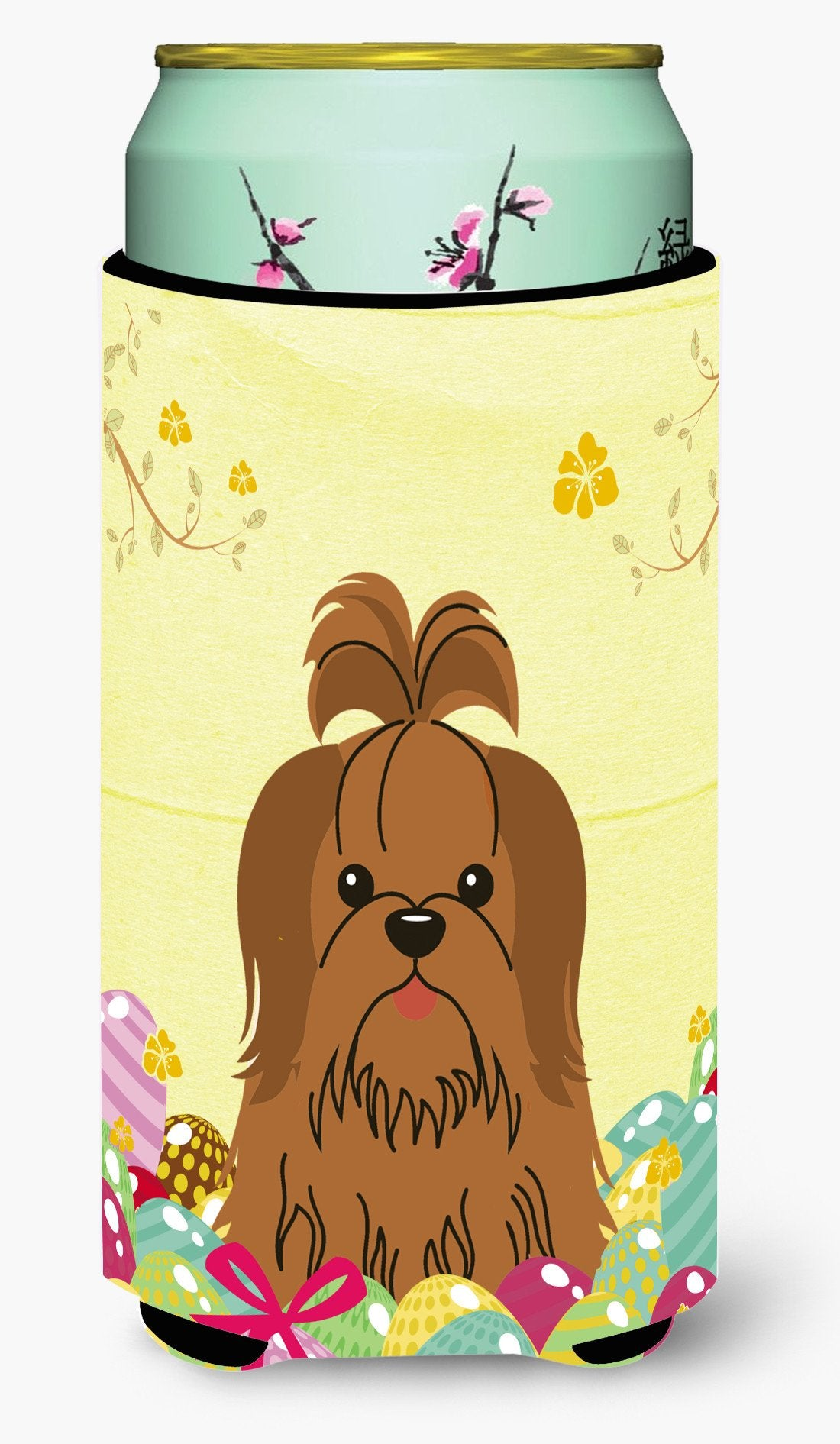 Easter Eggs Shih Tzu Silver Chocolate Tall Boy Beverage Insulator Hugger BB6086TBC by Caroline's Treasures