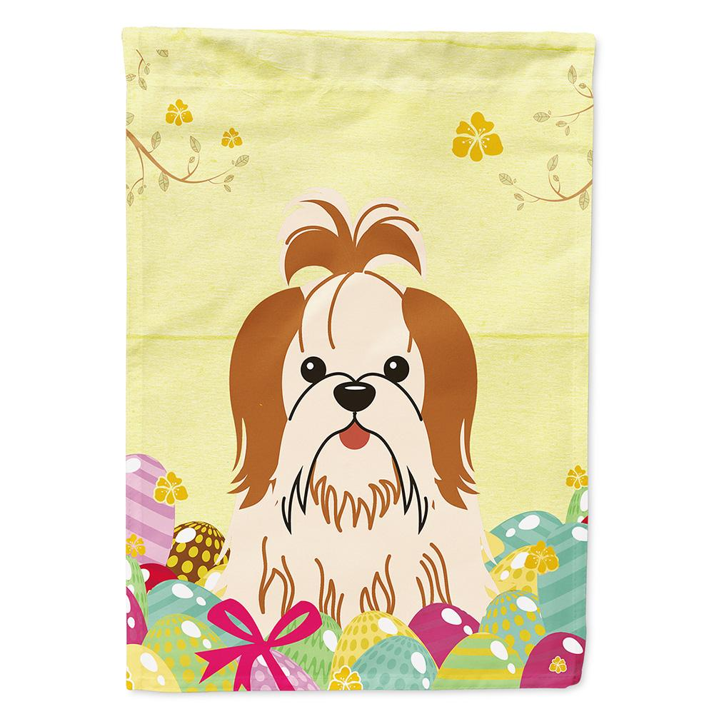 Buy this Easter Eggs Shih Tzu Red White Flag Garden Size BB6087GF