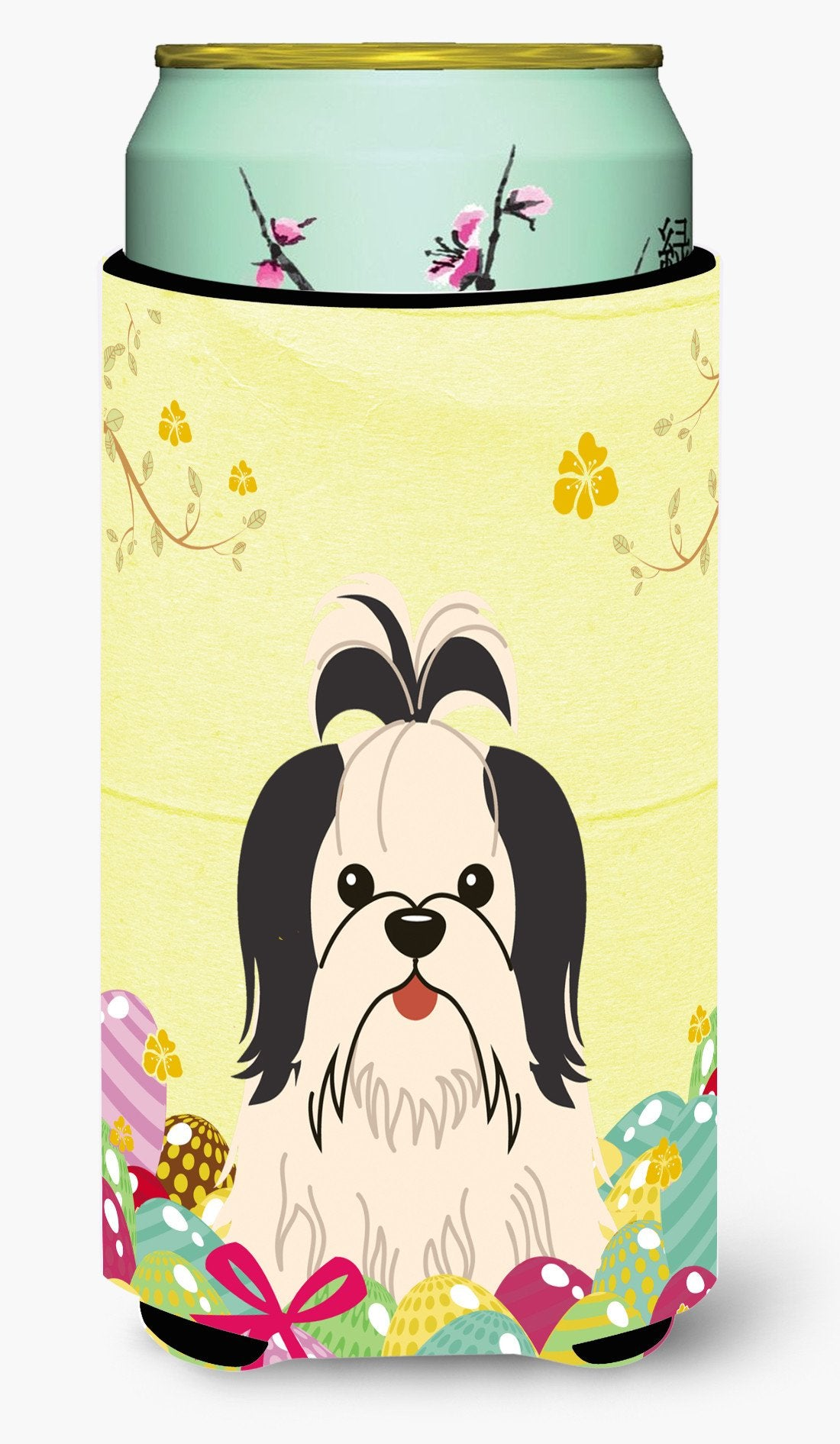 Easter Eggs Shih Tzu Black White Tall Boy Beverage Insulator Hugger BB6088TBC by Caroline's Treasures
