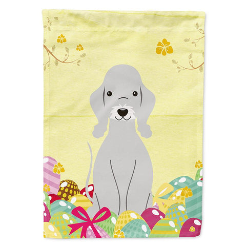 Buy this Easter Eggs Bedlington Terrier Blue Flag Garden Size BB6090GF