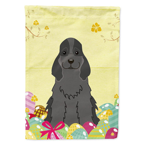 Buy this Easter Eggs Cocker Spaniel Black Flag Garden Size BB6092GF