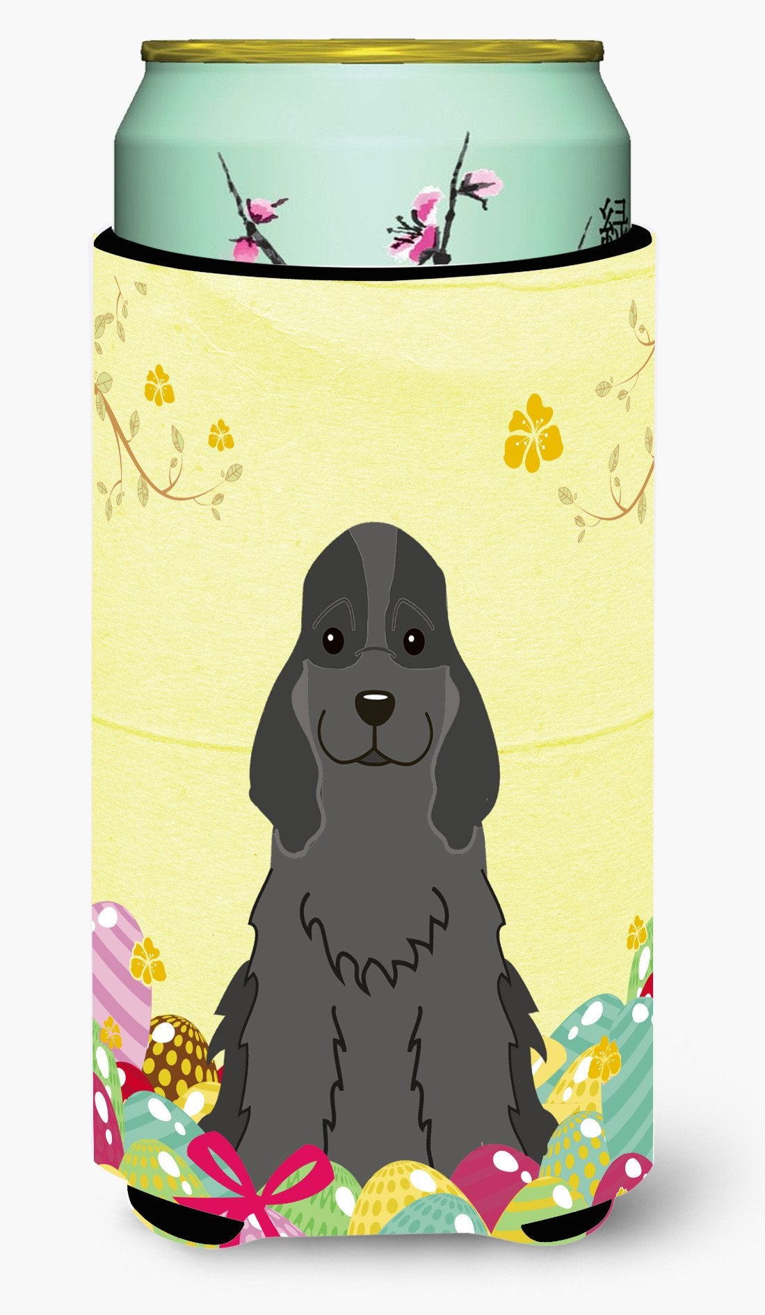 Easter Eggs Cocker Spaniel Black Tall Boy Beverage Insulator Hugger BB6092TBC by Caroline's Treasures