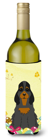 Buy this Easter Eggs Cocker Spaniel Black Tan Wine Bottle Beverge Insulator Hugger BB6093LITERK
