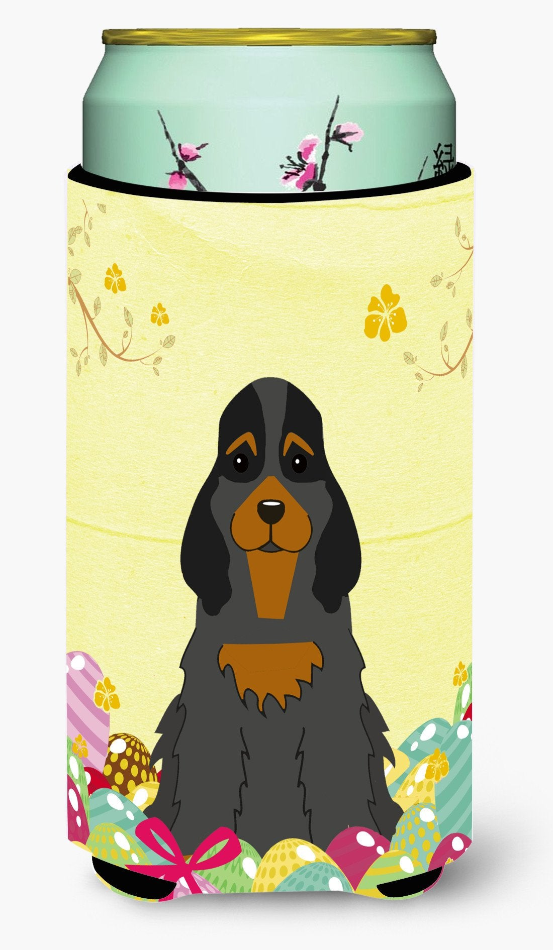 Easter Eggs Cocker Spaniel Black Tan Tall Boy Beverage Insulator Hugger BB6093TBC by Caroline's Treasures