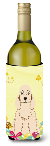 Buy this Easter Eggs Cocker Spaniel Buff Wine Bottle Beverge Insulator Hugger BB6094LITERK