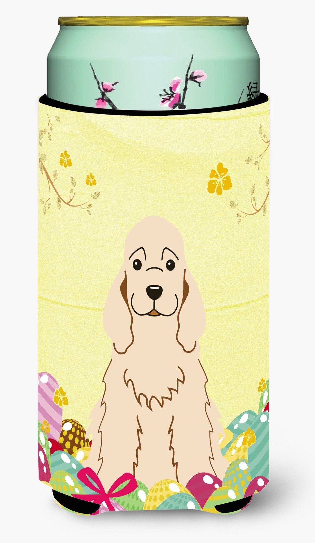 Easter Eggs Cocker Spaniel Buff Tall Boy Beverage Insulator Hugger BB6094TBC by Caroline's Treasures