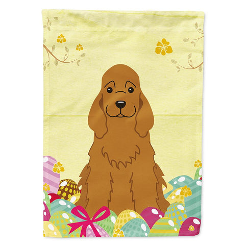 Buy this Easter Eggs Cocker Spaniel Red Flag Garden Size BB6095GF