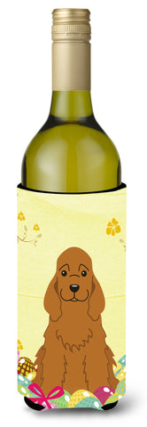 Buy this Easter Eggs Cocker Spaniel Red Wine Bottle Beverge Insulator Hugger BB6095LITERK