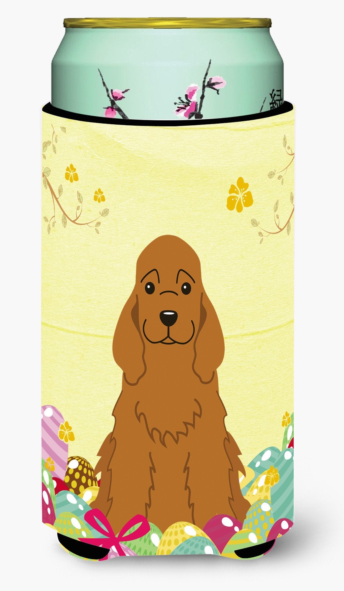 Easter Eggs Cocker Spaniel Red Tall Boy Beverage Insulator Hugger BB6095TBC by Caroline's Treasures