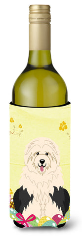 Buy this Easter Eggs Old English Sheepdog Wine Bottle Beverge Insulator Hugger BB6096LITERK