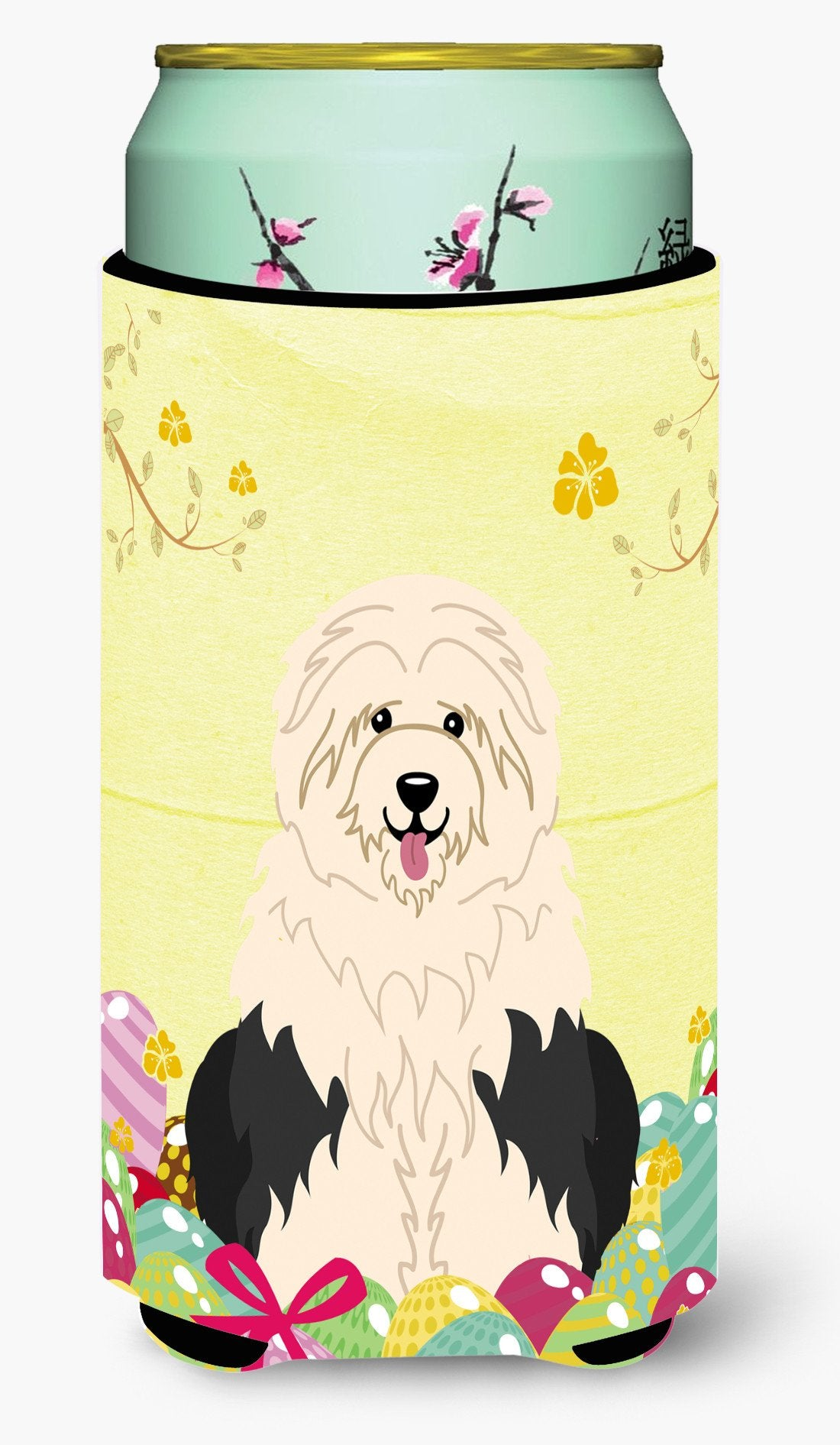 Easter Eggs Old English Sheepdog Tall Boy Beverage Insulator Hugger BB6096TBC by Caroline's Treasures