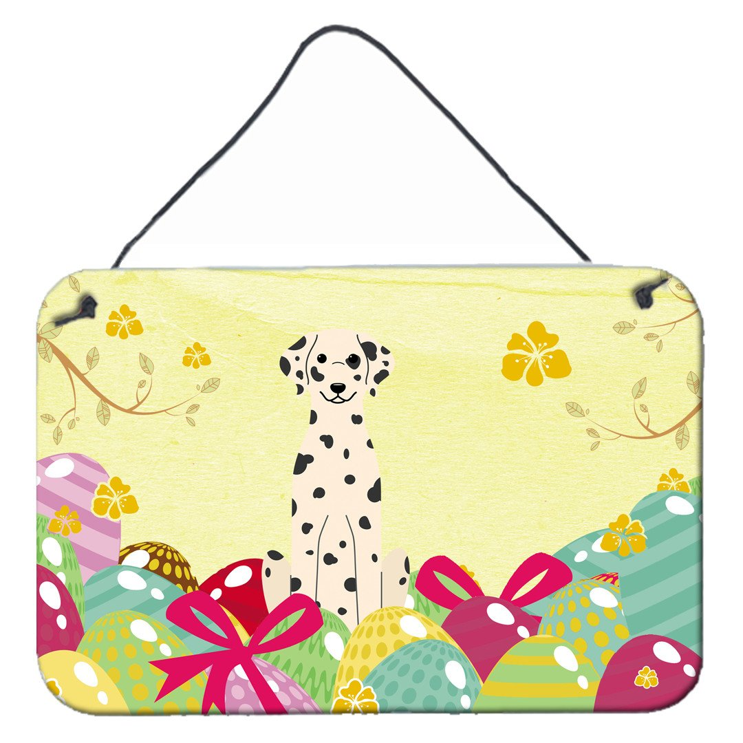 Easter Eggs Dalmatian Wall or Door Hanging Prints BB6097DS812 by Caroline's Treasures