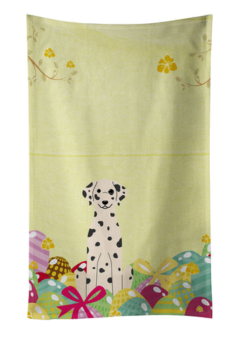 Buy this Easter Eggs Dalmatian Kitchen Towel BB6097KTWL