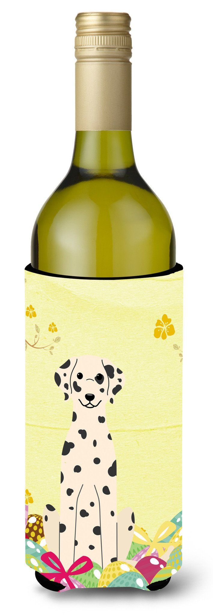 Easter Eggs Dalmatian Wine Bottle Beverge Insulator Hugger BB6097LITERK by Caroline's Treasures