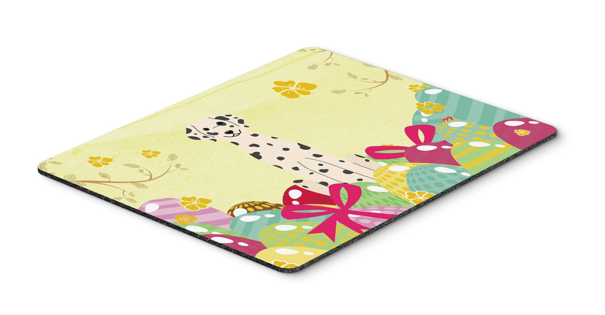 Easter Eggs Dalmatian Mouse Pad, Hot Pad or Trivet BB6097MP by Caroline's Treasures