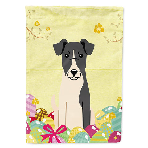 Buy this Easter Eggs Smooth Fox Terrier Flag Garden Size BB6098GF