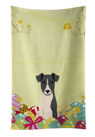Buy this Easter Eggs Smooth Fox Terrier Kitchen Towel BB6098KTWL