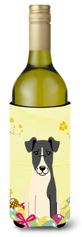 Buy this Easter Eggs Smooth Fox Terrier Wine Bottle Beverge Insulator Hugger BB6098LITERK