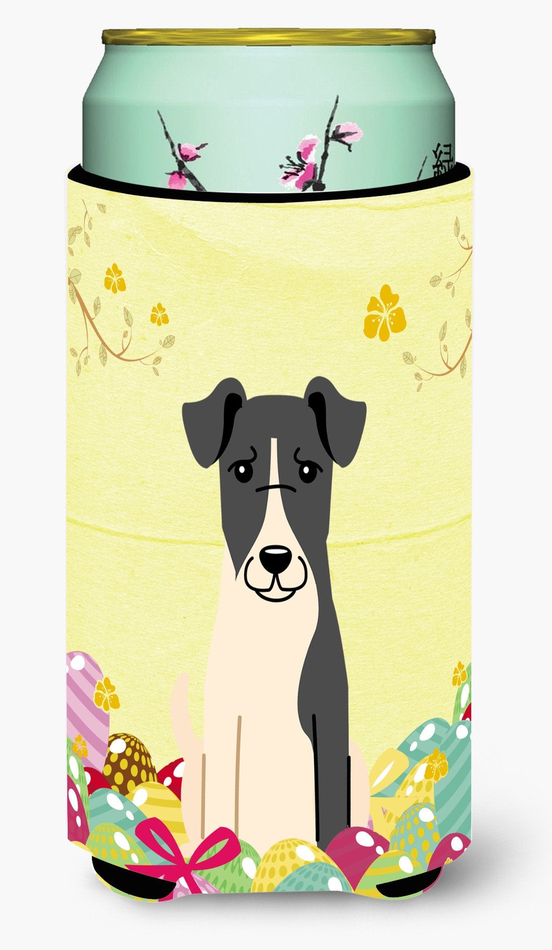 Easter Eggs Smooth Fox Terrier Tall Boy Beverage Insulator Hugger BB6098TBC by Caroline's Treasures