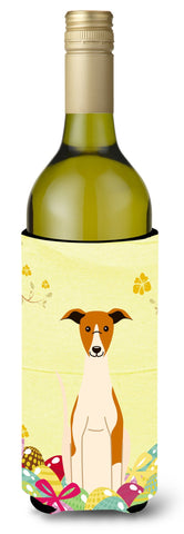 Buy this Easter Eggs Whippet Wine Bottle Beverge Insulator Hugger BB6099LITERK