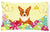 Easter Eggs Corgi Canvas Fabric Decorative Pillow BB6100PW1216 by Caroline's Treasures
