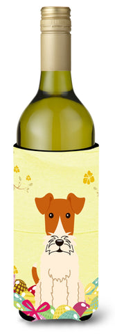 Buy this Easter Eggs Wire Fox Terrier Wine Bottle Beverge Insulator Hugger BB6101LITERK