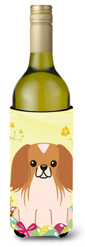 Buy this Easter Eggs Pekingnese Red White Wine Bottle Beverge Insulator Hugger BB6103LITERK