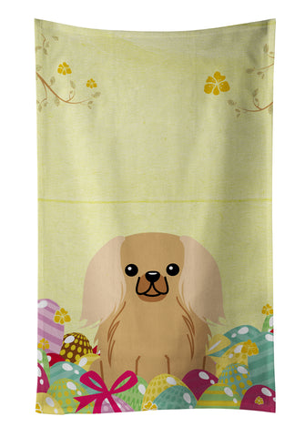 Buy this Easter Eggs Pekingnese Fawn Sable Kitchen Towel BB6104KTWL