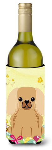Buy this Easter Eggs Pekingnese Fawn Sable Wine Bottle Beverge Insulator Hugger BB6104LITERK