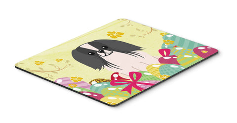 Buy this Easter Eggs Pekingnese Black White Mouse Pad, Hot Pad or Trivet BB6105MP