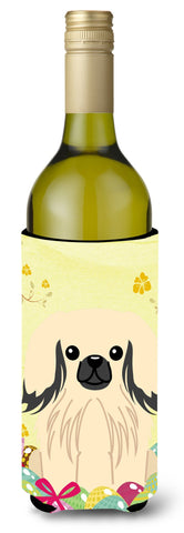 Buy this Easter Eggs Pekingnese Cream Wine Bottle Beverge Insulator Hugger BB6106LITERK