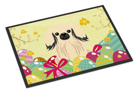 Buy this Easter Eggs Pekingnese Cream Indoor or Outdoor Mat 18x27 BB6106MAT