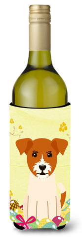 Buy this Easter Eggs Jack Russell Terrier Wine Bottle Beverge Insulator Hugger BB6108LITERK