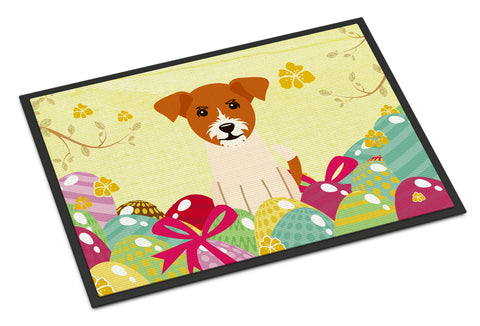 Buy this Easter Eggs Jack Russell Terrier Indoor or Outdoor Mat 18x27 BB6108MAT
