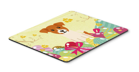 Buy this Easter Eggs Jack Russell Terrier Mouse Pad, Hot Pad or Trivet BB6108MP