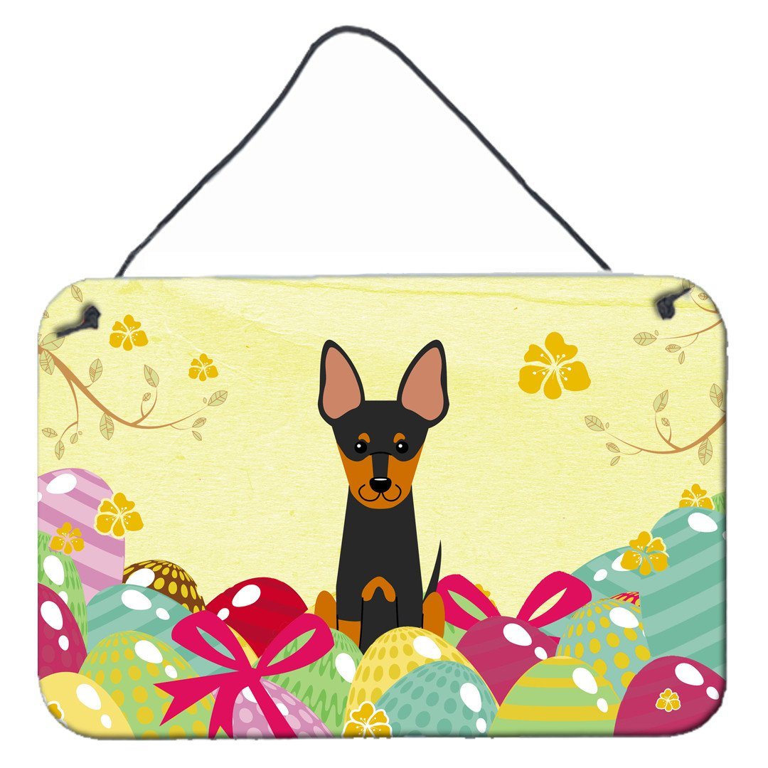 Easter Eggs English Toy Terrier Wall or Door Hanging Prints BB6109DS812 by Caroline's Treasures